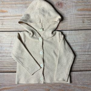 Tucker + Tate Button Front Hooded pink cardigan